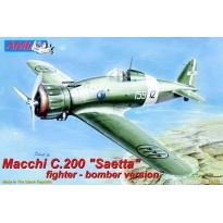"Macchi C.200 ""Saetta"" fighter- bomber version (1:72)"