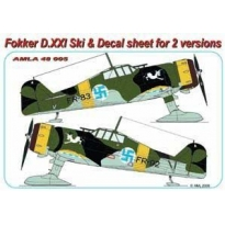 Fokker D.XXI: Ski +Decal sheet for 2 versions (1:48)