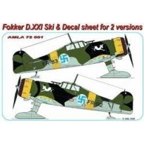 Fokker D.XXI Ski +Decal sheet for 2 versions (1:72)