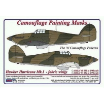 Hawker Hurricane Mk.I fabric wings - Cam. Painting Masks (1:48)