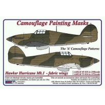 Hawker Hurricane Mk.I fabric wings - Cam. Painting Masks (1:72)