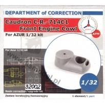 Caudron CR-714C1 front engine cowl (1:32)