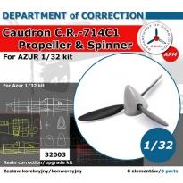 Caudron C.R.-714 C1 Propeller & Spinner (1:32)