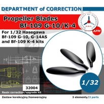 Bf 109 G/K wide propeller blades (1:32)