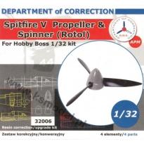 Spitfire V Propeller & Spinner Rotol (1:32)