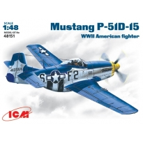 Mustang P-51D-15 WWII American fighter (1:48)