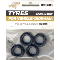 Tyres for vehicle/diorama (4 szt.) (1:35)