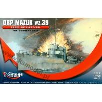 """Okręt artyleryjski ORP """"Mazur"""" wz.39 (1:400)"""