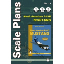 Scale Plans No.14 North American P-51D Mustang (1:72,1:48,1:32)