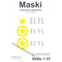 Alianckie gwiazdy - maski 1:35