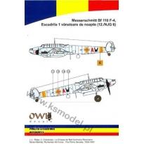 Messerschmitt Bf 110 F-4 Escadrila 1 vanatoare(12./NJG 6) (1:48)