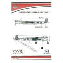 He 219 A-2, W.Nr. 290004, G9+DH, 1./NJG 1 (1:48)