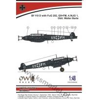 Bf 110 D FuG 202 G9+FM (Barte) (1:48)