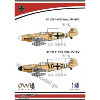Bf 109 F-4/R3 trop NF+WG (1:48)