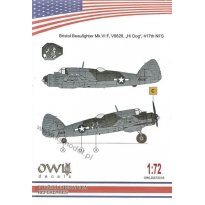"Bristol Beaufigter Mk,VI F, V8828 ""Hi Dog"" 417th NFS (1:72)"
