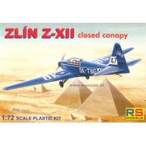 Zlin Z-XII - zamknięta kabina (1:72)
