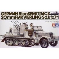 German 8ton Semi Track 20 mm Flakvierling Sdkfz 7/1 (1:35)