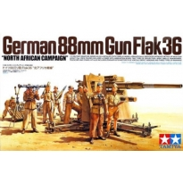 "German 88mm Gun Flak36 ""North African Campaign"" (1:35)"