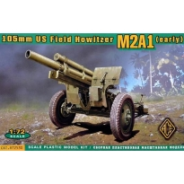 US 105mm Howitzer M2A1 w/M2 Gun Carriage (1:72)