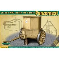 German WW2 mobile MG bunker Panzernest (1:72)