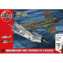 Nakajima B5N2 'Kate' Grumman Wildcat F4F4 Dogfight Doubles Gift Set (1:72)