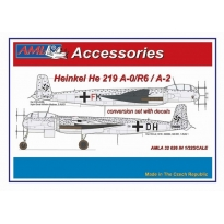Heinkel He 219 A-0/R6 / A-2  – The conversion set with decals: Konwersja (1:32)