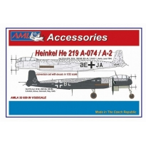 Heinkel He 219 A-074 / A-2 – The conversion set with decals: Konwersja (1:32)