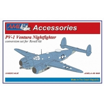 Ventura nightfighter conv. Set with gun nose, night exhausts, radar aerials AI Mk IV (1:48)