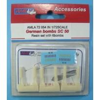 German bombs SC 50 (6 sztuk): Waloryzacja (1:72)