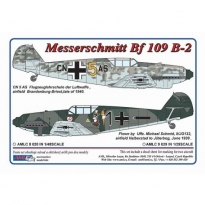 Messerschmitt Bf 109 B-2 / 2 decal versions : Schmid M, CN 5 AS (1:72)