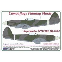 Spitfire Mk.22/24 - Camouflage Painting Masks (1:32)