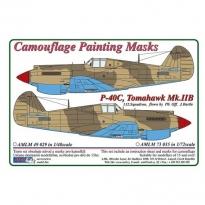 Curtiss P -40C, Tomahawk Mk.IIB - Camouflage Painting Masks (1:48)