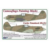 Curtiss Tomahawk Mk.IIB / Part I - Camouflage Painting Masks (1:48)