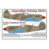 Curtiss Tomahawk Mk.IIB / Part II - Camouflage Painting Masks (1:48)