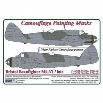 Bristol Beaufighter Mk.VI / Late – Night Fighter Camouflage Painting Masks (1:72)