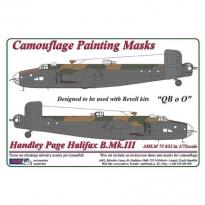 """Handley Page Halifax B.Mk.III """"QBoO"""", Camouflage Painting Masks (1:72)"""