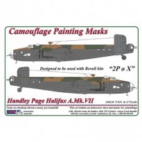"""Handley Page Halifax A.Mk.VII  """"2PoX"""", Camouflage Painting Masks (1:72)"""