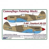 Curtiss P -40C, Tomahawk Mk.IIB - Camouflage Painting Masks (1:72)