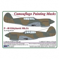 Curtiss P -40 Kittyhawk Mk.IA - Camouflage Painting Masks (1:72)