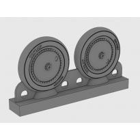 PZL P.7a Resin Wheels Dunlop (1:72)
