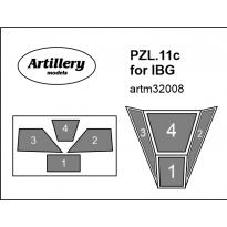 PZL.11c canopy for IBG: Maska (1:32)
