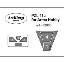 PZL.11c for Arma Hobby: Maska (1:72)