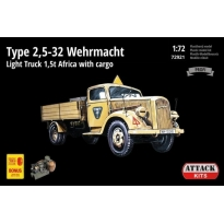 TYPE 2,5-32 Wehrmacht, light truck 1,5T AFRICA with cargo (1:72)