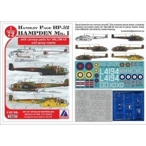 Handley Page Hampden Mk. I + clear parts pro VALOM kit (1:72)