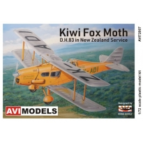 Kiwi Fox Moth D.H.83 in New Zealand Service (1:72)
