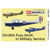 DH.80A Puss Moth in Military Service (1:72)
