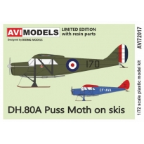 DH.80A Puss Moth on skis (1:72)