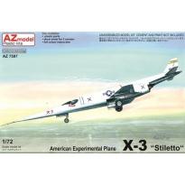 """American Experimental Plane X-3 """"Stiletto"""" (1:72)"""