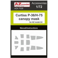 Curtiss P-36/H-75 canopy mask (1:72)