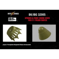 Spinner & front engine cover for PZL P.11c Polish Fighter (fits IBG 32001) (1:32)